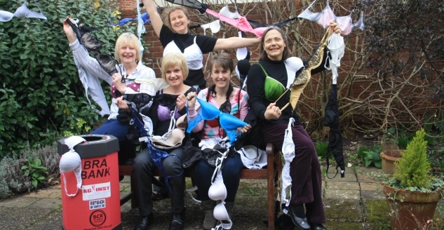 Bra Recycling - We're banking on you to help us beat breast cancer